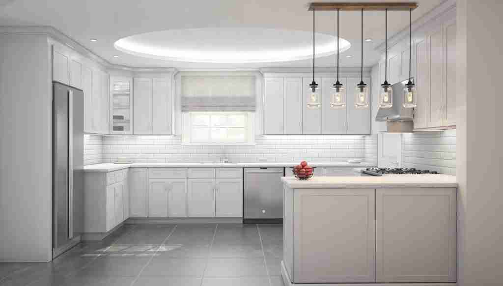 Cubitac Cabinetry White Cabinets in Kitchen