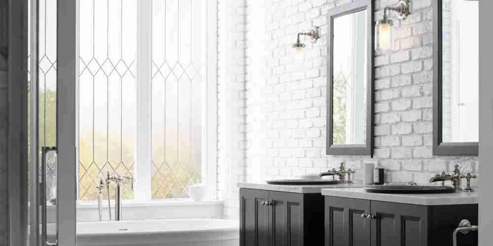Double Vanities and Black Bathroom Cabinets