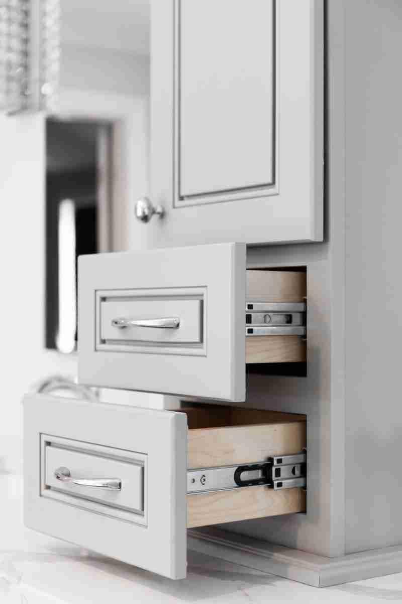 J&K Cabinetry Greige Kitchen Drawers