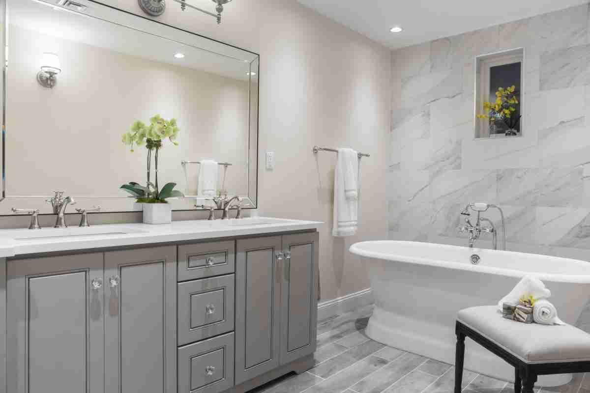 J&K Cabinetry Greige Bathroom