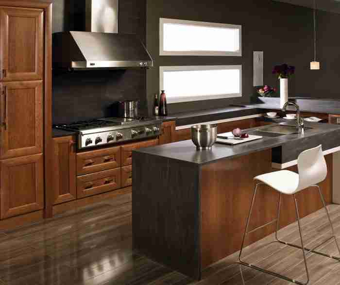 UltraCraft Cabinetry Contemporary Kitchen With Cherry Cabinets