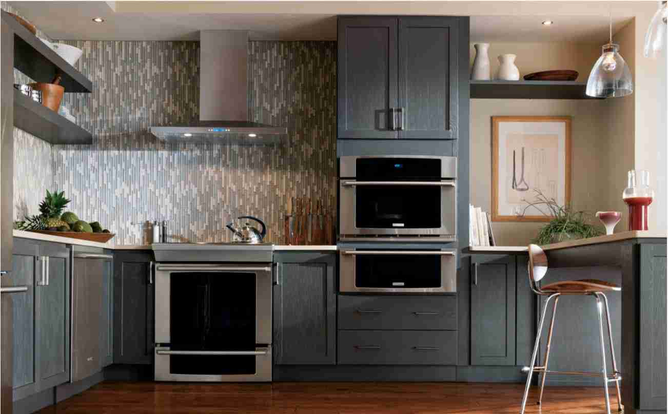 Starmark Cabinetry Gray Kitchen Cabinet